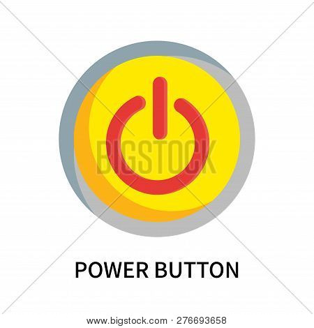 Power Button Icon Isolated On White Background. Power Button Icon Simple Sign. Power Button Icon Tre