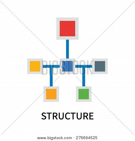 Structure Icon Isolated On White Background. Structure Icon Simple Sign. Structure Icon Trendy And M