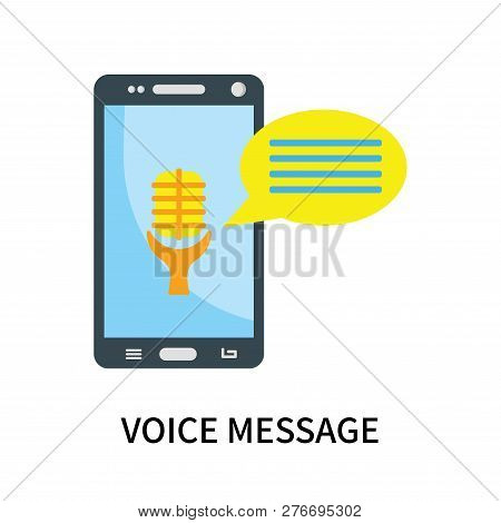 Voice Message Icon Isolated On White Background. Voice Message Icon Simple Sign. Voice Message Icon