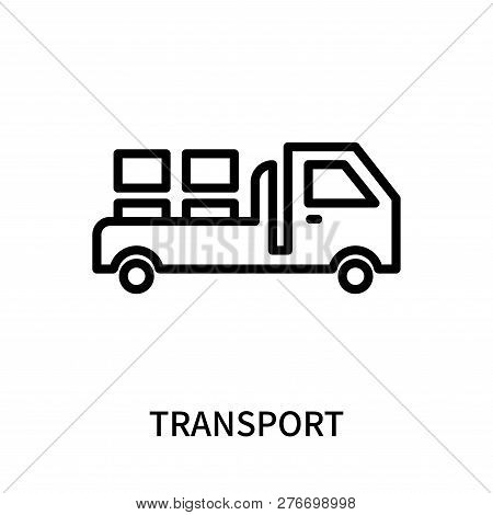 Transport Icon Isolated On White Background. Transport Icon Simple Sign. Transport Icon Trendy And M