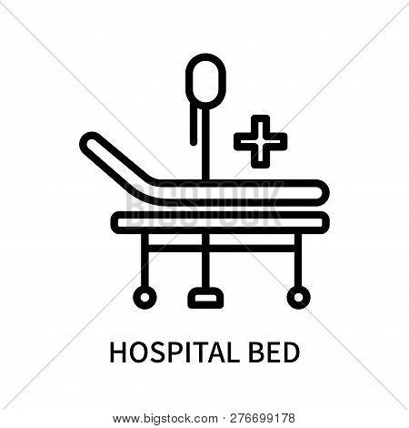 Hospital Bed Icon Isolated On White Background. Hospital Bed Icon Simple Sign. Hospital Bed Icon Tre