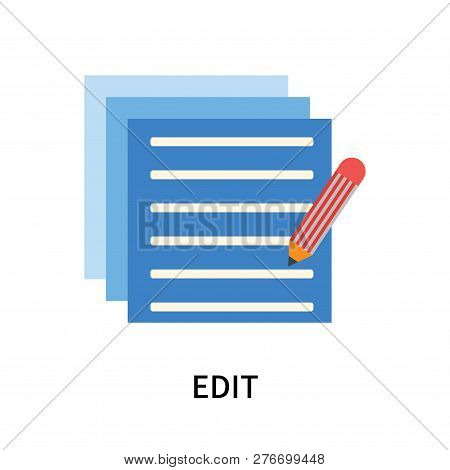 Edit Icon Isolated On White Background. Edit Icon Simple Sign. Edit Icon Trendy And Modern Symbol Fo