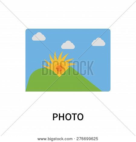 Photo Icon Isolated On White Background. Photo Icon Simple Sign. Photo Icon Trendy And Modern Symbol