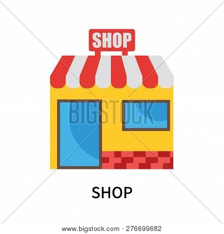 Shop Icon Isolated On White Background. Shop Icon Simple Sign. Shop Icon Trendy And Modern Symbol Fo