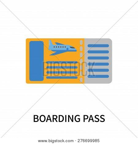 Boarding Pass Icon Isolated On White Background. Boarding Pass Icon Simple Sign. Boarding Pass Icon