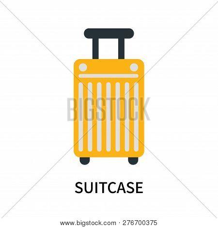 Suitcase Icon Isolated On White Background. Suitcase Icon Simple Sign. Suitcase Icon Trendy And Mode