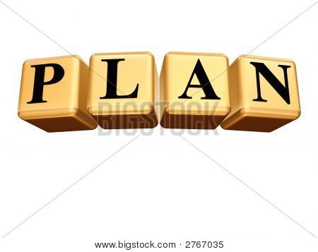 Golden Plan Isolated