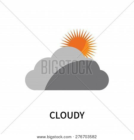 Cloudy Icon Isolated On White Background. Cloudy Icon Simple Sign. Cloudy Icon Trendy And Modern Sym