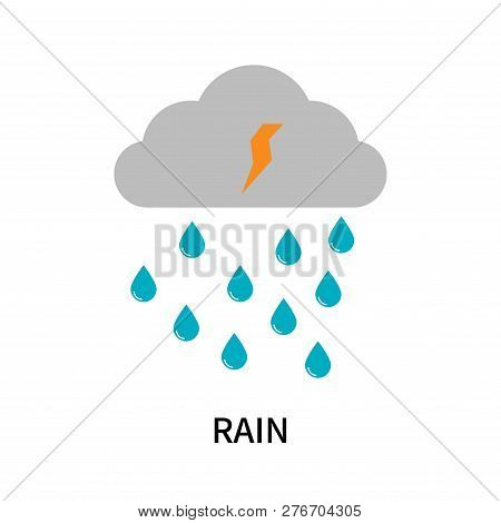 Rain Icon Isolated On White Background. Rain Icon Simple Sign. Rain Icon Trendy And Modern Symbol Fo