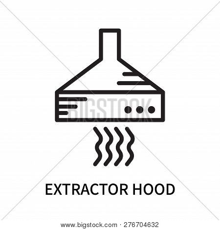 Extractor Hood Icon Isolated On White Background. Extractor Hood Icon Simple Sign. Extractor Hood Ic