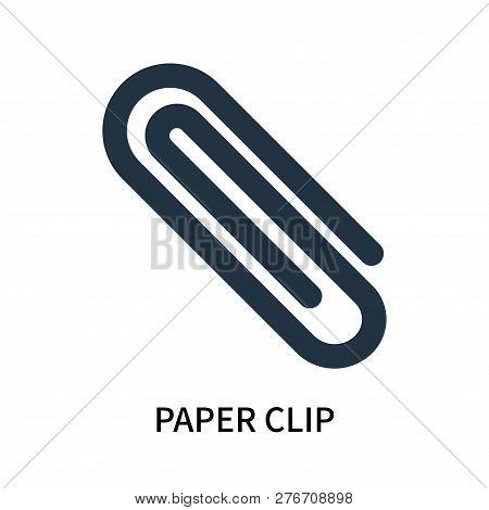 Paper Clip Icon Isolated On White Background. Paper Clip Icon Simple Sign. Paper Clip Icon Trendy An
