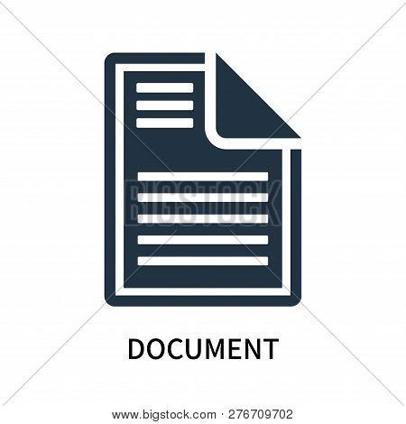 Document Icon Isolated On White Background. Document Icon Simple Sign. Document Icon Trendy And Mode