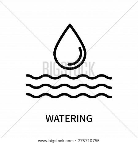 Watering Icon Isolated On White Background. Watering Icon Simple Sign. Watering Icon Trendy And Mode