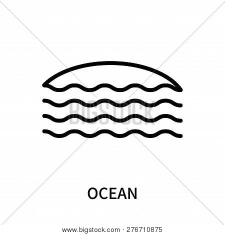 Ocean Icon Isolated On White Background. Ocean Icon Simple Sign. Ocean Icon Trendy And Modern Symbol