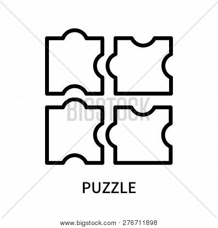 Puzzle Icon Isolated On White Background. Puzzle Icon Simple Sign. Puzzle Icon Trendy And Modern Sym