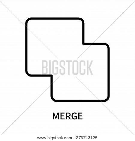Merge Icon Isolated On White Background. Merge Icon Simple Sign. Merge Icon Trendy And Modern Symbol