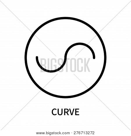 Curve Icon Isolated On White Background. Curve Icon Simple Sign. Curve Icon Trendy And Modern Symbol