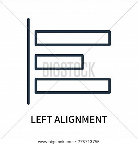 Left Alignment Icon Isolated On White Background. Left Alignment Icon Simple Sign. Left Alignment Ic