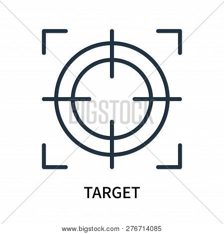 Target Icon Isolated On White Background. Target Icon Simple Sign. Target Icon Trendy And Modern Sym