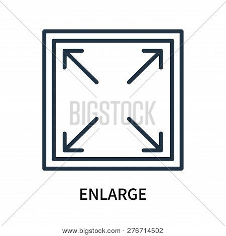Enlarge Icon Isolated On White Background. Enlarge Icon Simple Sign. Enlarge Icon Trendy And Modern