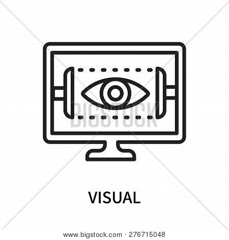 Visual Icon Isolated On White Background. Visual Icon Simple Sign. Visual Icon Trendy And Modern Sym