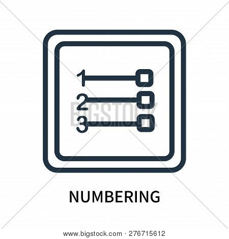 Numbering Icon Isolated On White Background. Numbering Icon Simple Sign. Numbering Icon Trendy And M