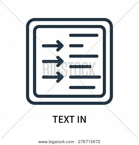 Text In Icon Isolated On White Background. Text In Icon Simple Sign. Text In Icon Trendy And Modern