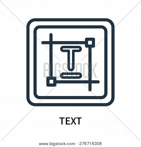 Text Icon Isolated On White Background. Text Icon Simple Sign. Text Icon Trendy And Modern Symbol Fo