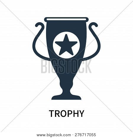 Trophy Icon Isolated On White Background. Trophy Icon Simple Sign. Trophy Icon Trendy And Modern Sym