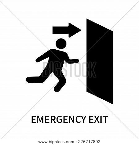 Emergency Exit Icon Isolated On White Background. Emergency Exit Icon Simple Sign. Emergency Exit Ic
