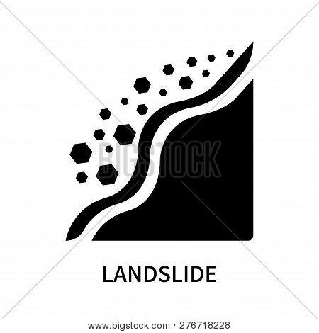 Landslide Icon Isolated On White Background. Landslide Icon Simple Sign. Landslide Icon Trendy And M