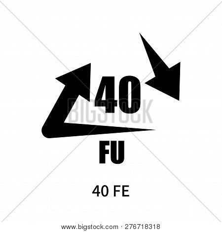 40 Fe Icon Isolated On White Background. 40 Fe Icon Simple Sign. 40 Fe Icon Trendy And Modern Symbol