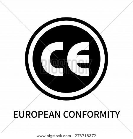 European Conformity Icon Isolated On White Background. European Conformity Icon Simple Sign. Europea