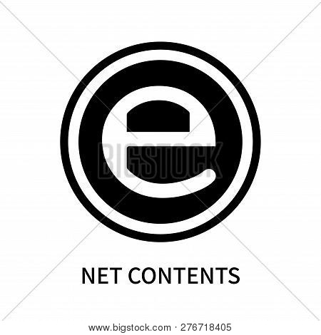 Net Contents Icon Isolated On White Background. Net Contents Icon Simple Sign. Net Contents Icon Tre
