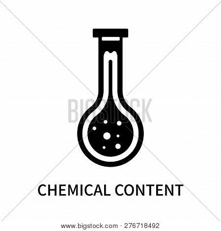 Chemical Content Icon Isolated On White Background. Chemical Content Icon Simple Sign. Chemical Cont