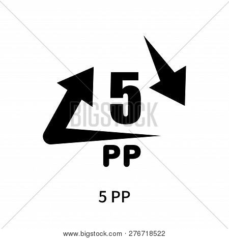 5 Pp Icon Isolated On White Background. 5 Pp Icon Simple Sign. 5 Pp Icon Trendy And Modern Symbol Fo