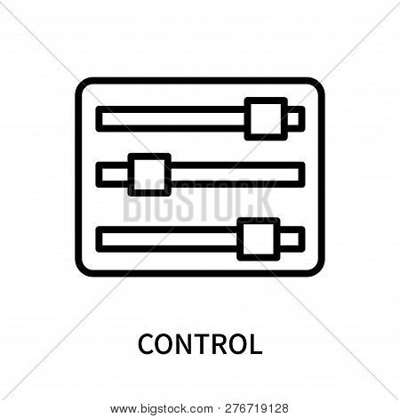 Control Icon Isolated On White Background. Control Icon Simple Sign. Control Icon Trendy And Modern