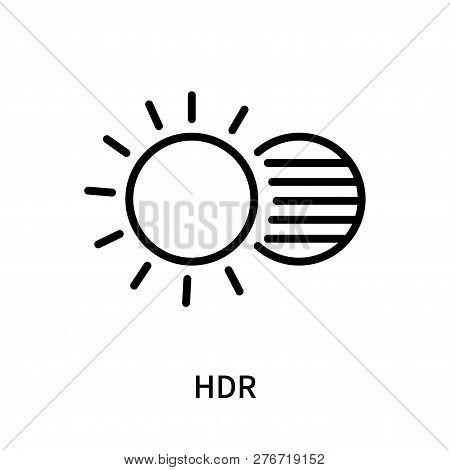 Hdr Icon Isolated On White Background. Hdr Icon Simple Sign. Hdr Icon Trendy And Modern Symbol For G