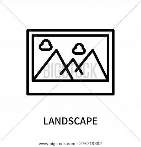Landscape Icon Isolated On White Background. Landscape Icon Simple Sign. Landscape Icon Trendy And M