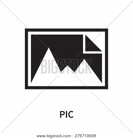 Pic Icon Isolated On White Background. Pic Icon Simple Sign. Pic Icon Trendy And Modern Symbol For G
