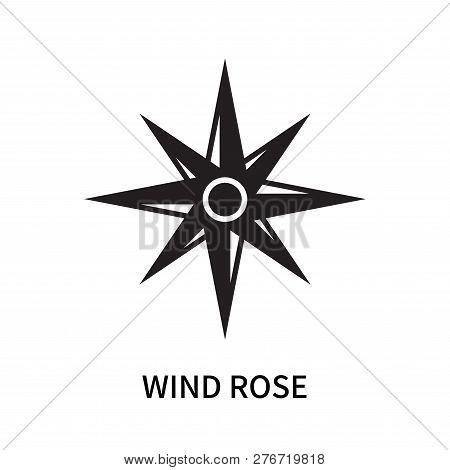 Wind Rose Icon Isolated On White Background. Wind Rose Icon Simple Sign. Wind Rose Icon Trendy And M