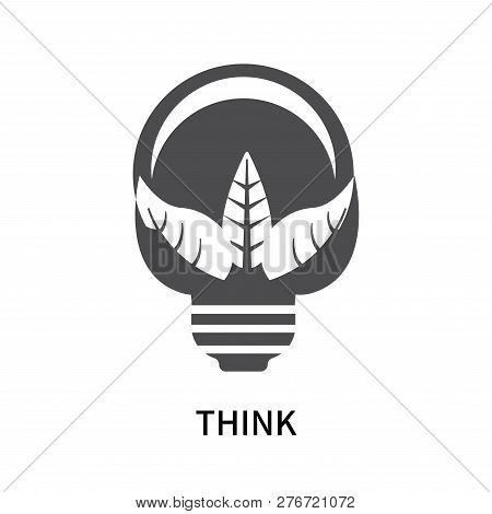 Think Icon Isolated On White Background. Think Icon Simple Sign. Think Icon Trendy And Modern Symbol