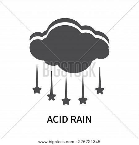 Acid Rain Icon Isolated On White Background. Acid Rain Icon Simple Sign. Acid Rain Icon Trendy And M