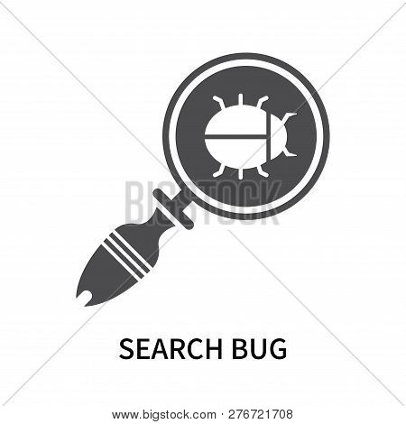 Search Bug Icon Isolated On White Background. Search Bug Icon Simple Sign. Search Bug Icon Trendy An