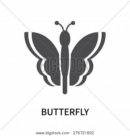 Butterfly Icon Isolated On White Background. Butterfly Icon Simple Sign. Butterfly Icon Trendy And M