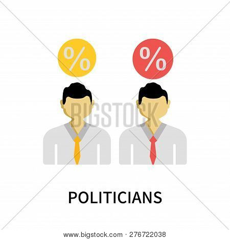 Politicians Icon Isolated On White Background. Politicians Icon Simple Sign. Politicians Icon Trendy