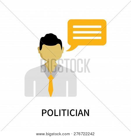 Politician Icon Isolated On White Background. Politician Icon Simple Sign. Politician Icon Trendy An