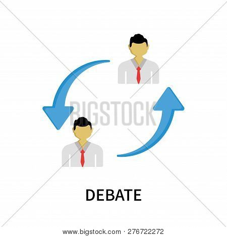 Debate Icon Isolated On White Background. Debate Icon Simple Sign. Debate Icon Trendy And Modern Sym
