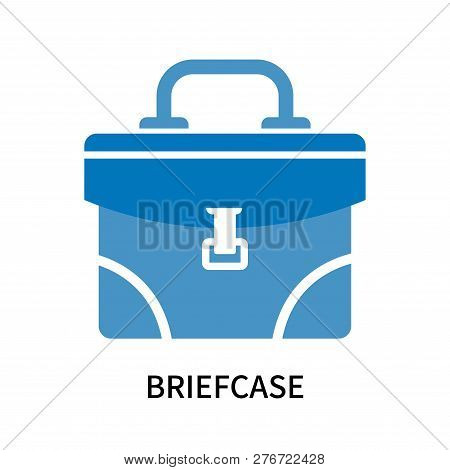 Briefcase Icon Isolated On White Background. Briefcase Icon Simple Sign. Briefcase Icon Trendy And M