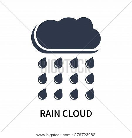 Rain Cloud Icon Isolated On White Background. Rain Cloud Icon Simple Sign. Rain Cloud Icon Trendy An